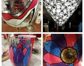 Special Request Hand-Painted Glass