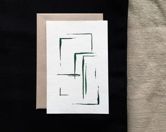 Minimalist design greeting card - watercolor art hand-painted  - Abstract design - Any occasion