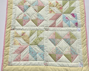 baby quilt, baby blanket, handmade quilt, cot quilt, baby shower, christening, birthday, pink, blue, green, yellow, free shipping