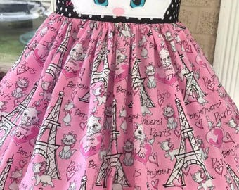Aristocats Marie theme twirl dress