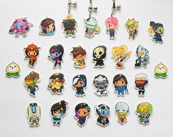 Overwatch Charms - 24 Heroes Available and More