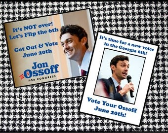 Jon Ossoff Georgia 6th Get Out The Vote Postcards - Color