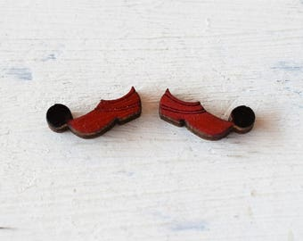 Stud Earrings Tsarouhi ,Greek Shoe studs Earrings