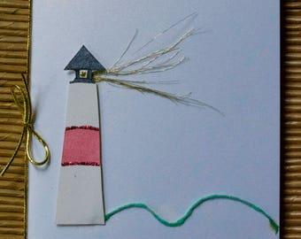 Original handmade greeting card - Sankaty Lighthouse
