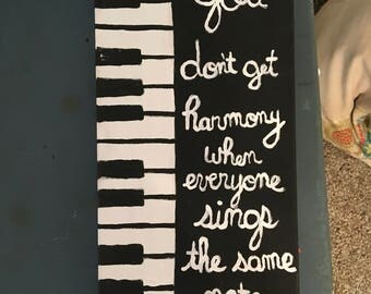 Harmony keyboard canvas art
