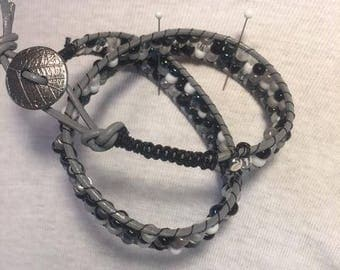 Braided grey bracelet