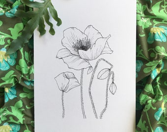 NEW - The Poppy - August Birth Flower