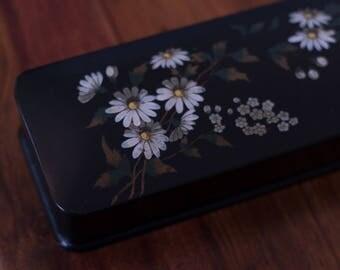 Antique Victorian Lacquered Glove Box