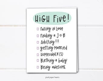greeting card: high five