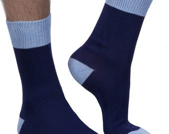 Stanley men's luxury crew sock in navy | Made in England for seriouslysillysocks