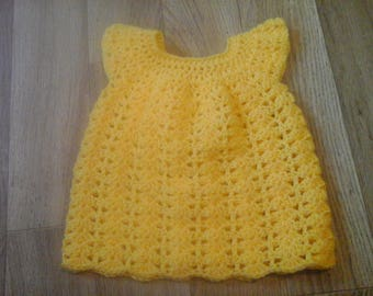 Shell stitch baby dress 18in chest