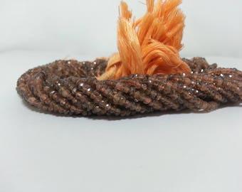 Natural Andalusite Garnet Faceted Rondelle Beads | Garnet Beads | Brown Garnet | Faceted Garnet Beads | Endosolite Garnet | Wholesale Garnet