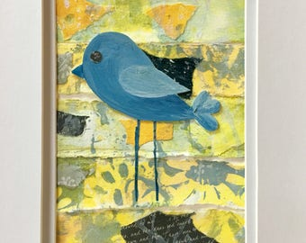 Blue Bird Collage