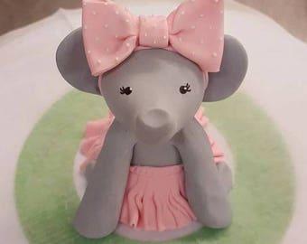 Elephant Cake Topper Fondant Edible Animal