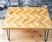 Reclaimed Wood RusticIndustrial Style Coffee Table
