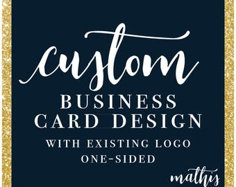 One-Sided-Business-Card-Design-with-Existing-Logo-Business-Card-Custom-Design-Business-Card-Design-Marketing-Materials-Business-Marketing