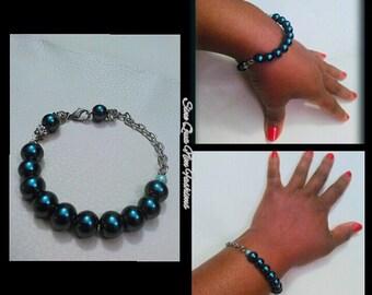 Green& Bling bracelet