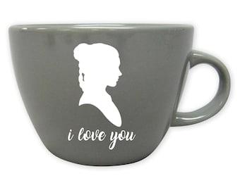 Princess Leia Mug- Star Wars Wedding Gift - Star Wars Engagement Gift- Star Wars Anniversary Gift