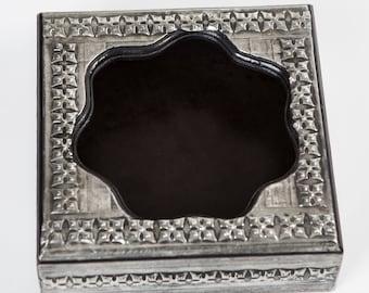 pewter serviette box