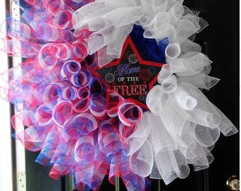 Large oversize 4th of July wreath