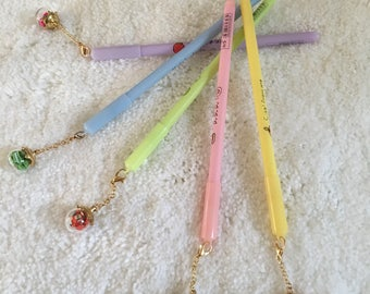 Polymer clay gel pens, office supplies stationary, pens, cute stationary