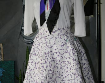 White Cotton Handmade Skirt