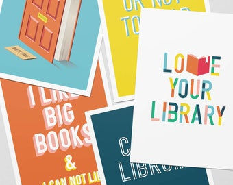 Lover Your Library Postcard Pack