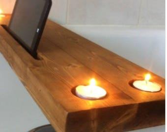 handmade wooden bath tray