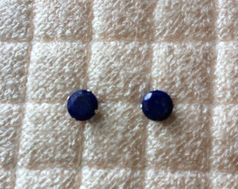 Lapis Lazuli Sterling Silver Stud Earrings