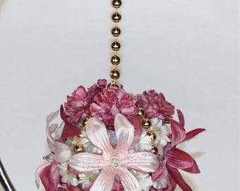 Pink Floral and Beaded Decoration