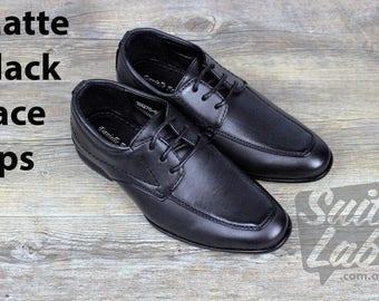 Boys Formal Wedding Black Lace Up Shoes - Wedding, Church, Formal, Communion Shoes