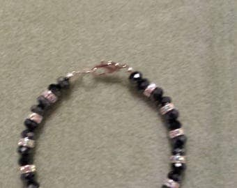 Swarovski Blue and Pink crystal beaded bracelet