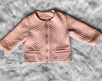 Girl jacket, old pink girl jacket, embroidery girl jacket, summer girl jacket, wedding girl jacket, girl gift, posh girl jacket, boho girl
