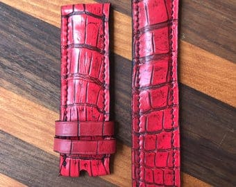Handmade Genuine Crocodile Watch Strap