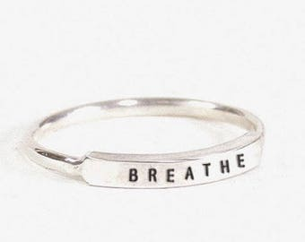 Sterling Silver Dainty Breathe Ring