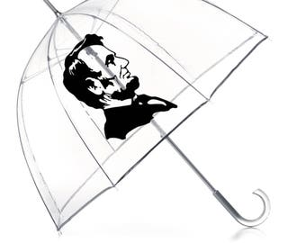 LINCOLN Hipster Umbrella- Funny Presidential Gift- Funny Abe Lincoln
