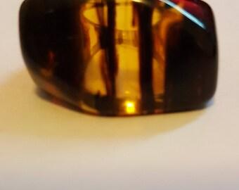 Vintage Tortoiseshell Lucite Ring