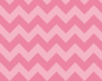 Chevron Hot PinkTone on Tone  Medium Cotton Fabric - Riley Blake Fabrics - Perfect for Nursery, Clothing, and Quilts