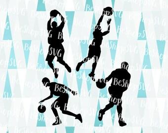 Basketball players SVG, Basketball SVG, Basketball bundle SVG, Basketball Vector, Instant download, Sport Svg, Eps - Dxf - Png - Svg