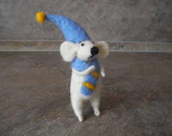 Wool Felted Mouse Felt doll Mouse Handmade felt animal Mice Gift Needle Felted Animal Mouse Cute needle felt mouse Plush miniature Art doll