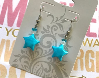 Light Blue Origami Lucky Star Earring (READY TO SHIP)