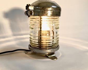 vintage boat lamp