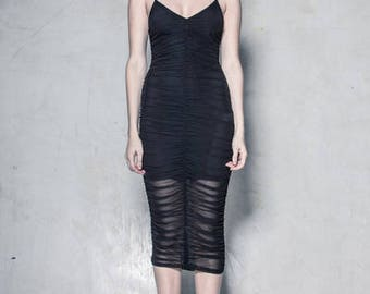Ruched Dress - Black