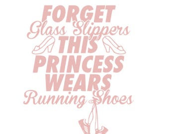 Disney Princess SVG Cinderella princess svg gym fitness glass slipper running shoes disney princess SVG princess disney belle cinderella svg