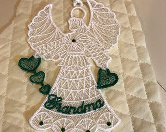 Grandma Lace Angel Ornament