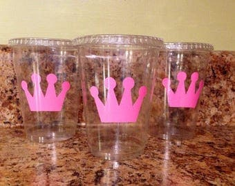 Princess crown party cups