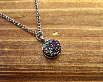 Rainbow Druzy Necklace