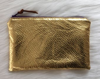 Shimmer Pouch. Silver 'n Gold.