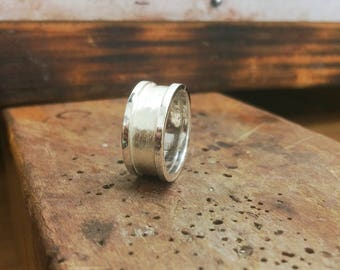 Complicated line design, handmade silver ring
