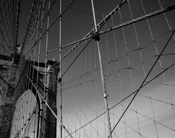 LIMITED EDITION, 10 ONLY. Brooklyn Bridge, New York - 90 x 60 cm